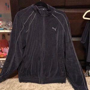 Men's puma velour sweatsuit jacket and pants